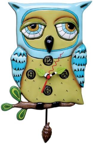 Allen Studio Designs Old Blue Owl Clock