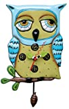 Old Blue Owl pendulum clock