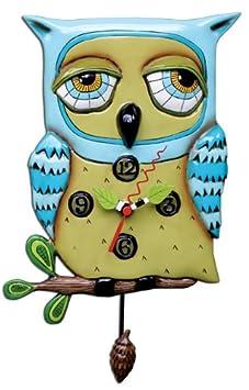 Allen Designs Old Blue Owl pendulum clock