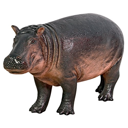 Design Toscano NE110087 Bobo The Baby Hippo Statue, Full Color