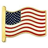 PinMart's American Flag Patriotic Cloisonne Enamel Lapel Pin