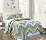 Larger Than King Size Comforter 3-Piece Fine printed Oversize (115