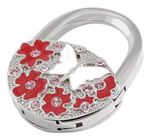 Sourcingmap Portable Handbag Hanger, Pink/Red/ Silver Tone/White a12041700ux0228
