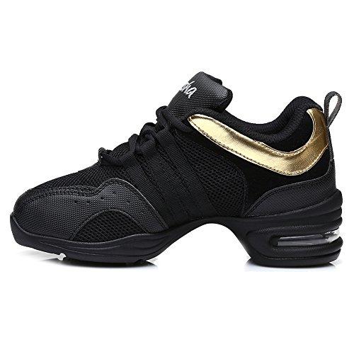 Deporte 1 Esb5 Suela Goma Negro Hipposeus De Transpirable Mujer Modelo Zapatillas oro Superficie Malla aWUOtWq
