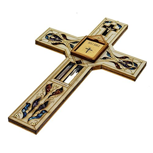 Holy Religious Water and Soil Home Wood Cross Crucifix 11