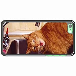 iPhone 5C Black Hardshell Case muzzle water sink Desin Images Protector Back Cover