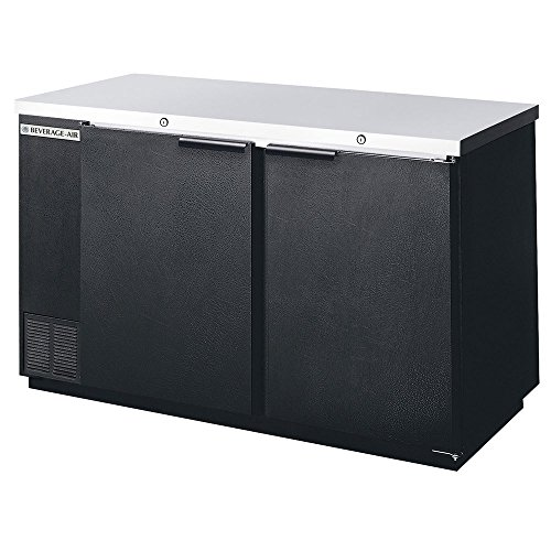 Beverage Air BB58F-1-B Two-Section Refrigerated Food Rated Back Bar Storage Cabinet 58