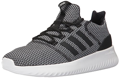 adidas Men's Cloudfoam Ultimate Running Shoe Black/White, 5 Medium US