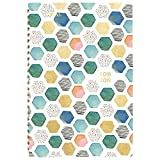 Mead 2018-2019 Academic Year Weekly & Monthly Planner, Small, 5-3/8 x 8-5/16, Shape It up, Geo Design (602048D2)