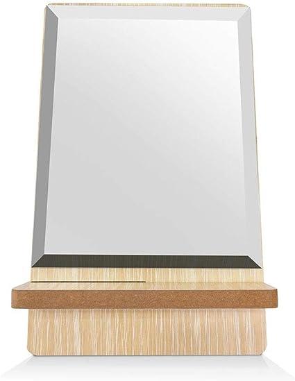 GOY Espejo de Maquillaje HD Espejo de Mesa Ovalado de Madera ...