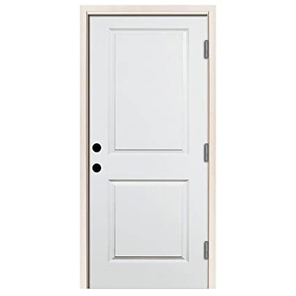 Premium 2 Panel Square Primed White Steel Entry Door With 36 In