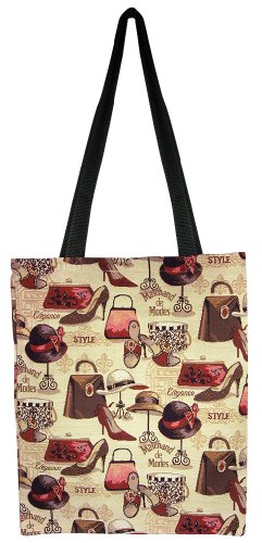 Banberry Designs Fashion & Style Canvas Shopping Shoulder Tote Bag