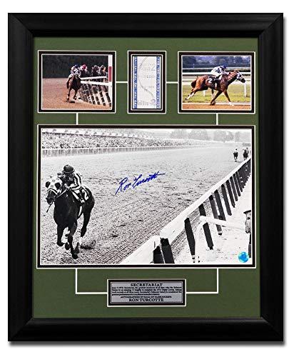 Ron Turcotte Autographed Autograph Secretariat Triple Crown Belmont Bet Ticket 19x23 Frame Certificate of Authenticity Included