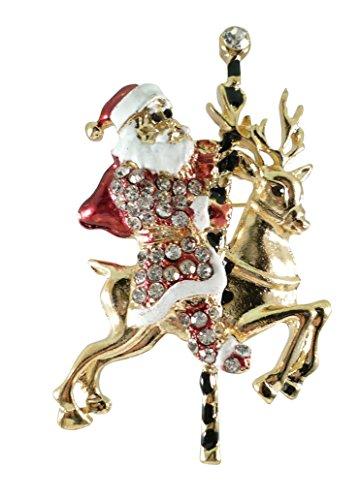 Reindeer Tone Gold (Bejeweled Christmas Goldtone