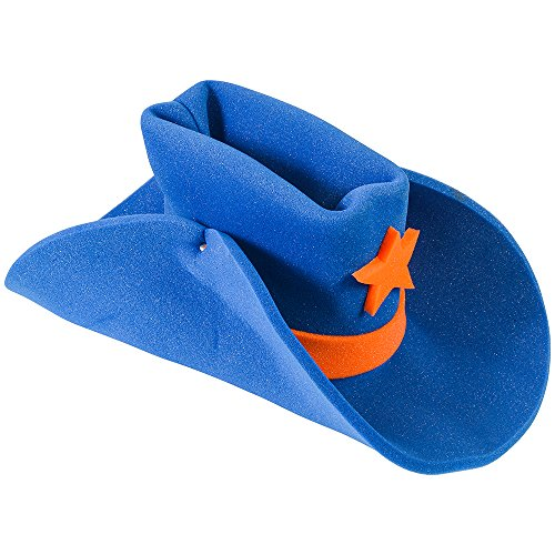Huge Funny and Crazy Blue Cowboy Hat Super Size Cowgirl Hats Funny Party Hats