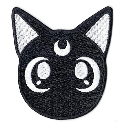 Black Cat Logo - Anime Sailor Black Cat Logo Embroidered Iron On Patch