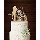 Wedding Cake Toppers Bride and Groom Fishing Anchor Wedding Cake Toppers Personalized Last Name Wedding Gifts