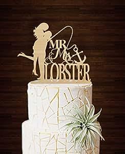 Amazon Fishing Wedding Cake Toppers