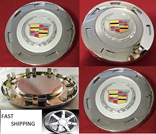 2007-2014 Cadillac Escalade Colored Crest 22'' Wheel Center Cap 9597355 by REPLACEMENET FOR Cadillac