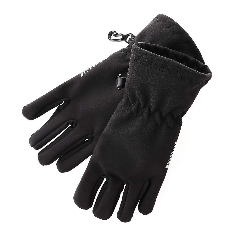 Kids Cold Weather Gloves Boys Touchscreen Gloves Fleece Linning Waterproof Ski Gloves for Children