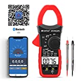 Holdpeak Digital Clamp Meter HP-570C-APP APP Supported,Volt Amp Ohm Tester,4000 Count Multimeter with Auto Range,AC/DC Voltage AC/DC Current,Resistance,Capacitance,Temperature,Diode Test for Home