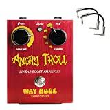 Way Huge WHE101 Angry Troll Linear Boost Amplifier Guitar Effects Pedal with 2 patch cables      The mighty Angry Troll Linear Boost Amplifier has +50dB of gain on tap to pummel the input of any amplifier.The mighty Angry Troll Linear Boost A...