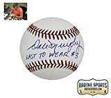 "Dale Murphy Autographed/Signed Atlanta Braves Rawlings Official Major League Baseball With ""Last To Wear #3"" Inscription"
