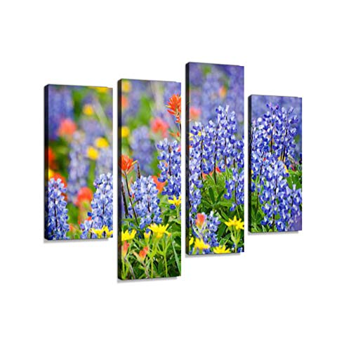 Heliotrope Ridge Wildflowers.Canvas Wall Art Hanging Paintings Modern Artwork Abstract Picture Prints Home Decoration Gift Unique Designed Framed 4 -