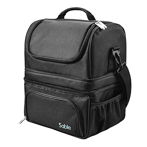 Sable Bolsa Térmica 22L con 3 Compartimentos Espaciosos en Calientes y Fríos, Lunch Bag Aislamiento y Impermeable con FDA Registrado: Amazon.es: Hogar