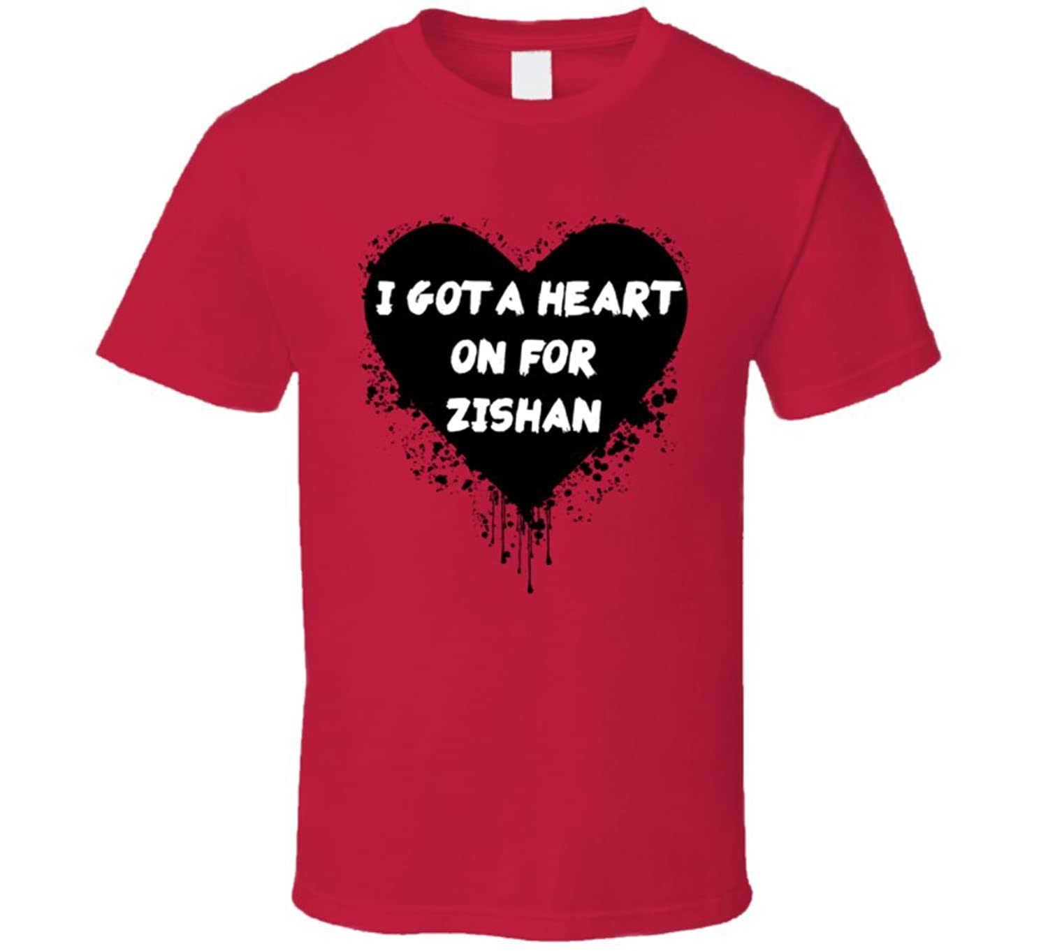 Heart on for Zishan Simple Plan Inspired Valentines T Shirt