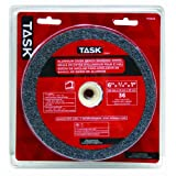 Task Tools T35634 6-Inch by 3/4-Inch Aluminum Oxide Bench Grinding Wheel, 36 Grit, 1-Inch Arbor