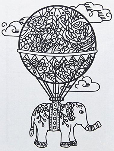 (Zendoodle Iron On Transfers Balloon/Elephant)