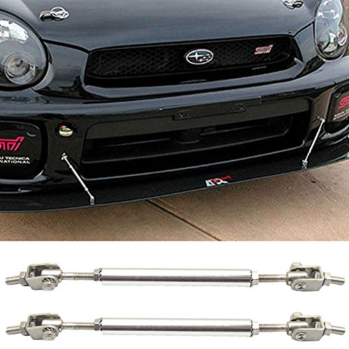 Strut Rods Fits Any Car | Adjustable 5.5-8 Inch Bumper Lip Spoiler Diffuser Rod Splitter Support Protector by IKON MOTORSPORTS (1988 Honda Strut Accord)
