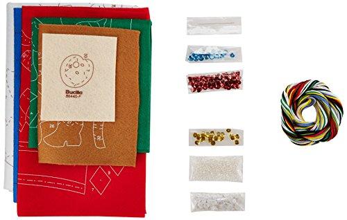 Tri Bead Ornaments - Bucilla 86440 Felt Applique Stocking Kit (16-Inch), Pick A Tree, 16