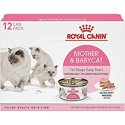 Cat Food Royal Canin Mother & Babycat Ultra-Soft Mousse in Sauce Wet... [tag]