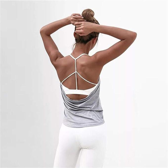 PQXOER Tops de Yoga para Mujer Womens Yoga Tops Entrenamientos ...