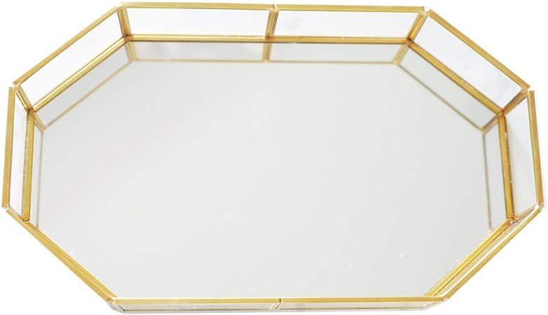 Personalised Geometric Metal Tray Jewellery TrayServing TrayCoffee Table Decor