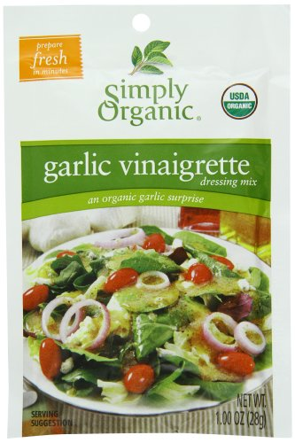 Organic Salad Dressing Mix by Simply Organic, Garlic Vinaigrette, 1 oz (12)