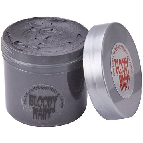 Bloody Mary Concrete Makeup – Latex Free F/X Costume Make Up - Charcoal Stone Colored Monster Face Paint for Living Statue Look – Dries and Cracks Like Cement – 3.5oz by Bloody Mary