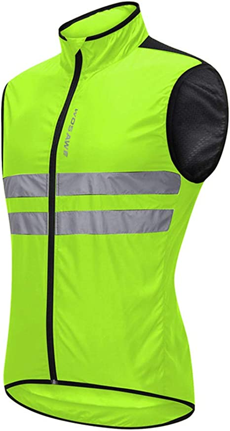 Reflective Cycling Jacket Wind Coat MTB Road Bike Windproof Hi Vis Jersey Tops