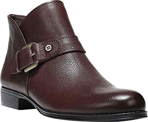Naturalizer Womens Jarrett Ankle Boot Wine Leather Us 8 5 M