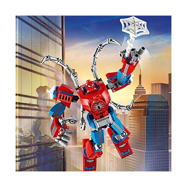 LEGO Super Heroes Il Mech di Spider-Man Set di Costruzioni per Bambini, con la Minifigure di SpiderMan e Ragnatela… 5 spesavip