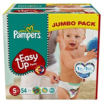 Pampers Easy Up Couches Culottes Taille 5 Junior 12 18 Kg