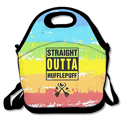 Black Straight Outta Hufflepuff Classic Grocery Bags For Man And - Maine Outlets Shopping