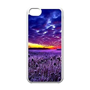 Beautiful sky Unique Design Cover Case with Hard Shell Protection for Iphone 5C Case lxa#394441