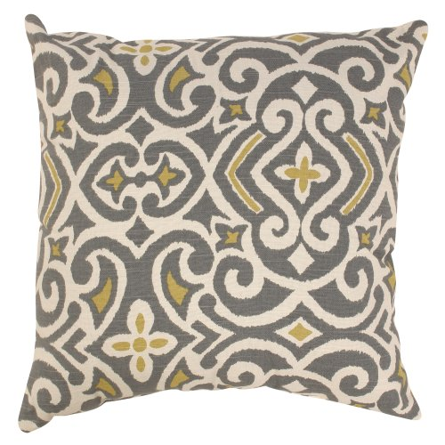 Pillow Perfect Decorative Damask Square