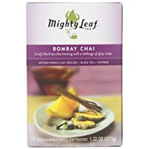 Mighty Leaf Tea, Bombay Chai, 15-Count Whole Leaf Pouches (Pack of 3)