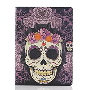 SHOUJIKE Purple Roses Skulls Pattern PU Leather Full Body Case with Stand for Samsung Tab4 10.1 T530