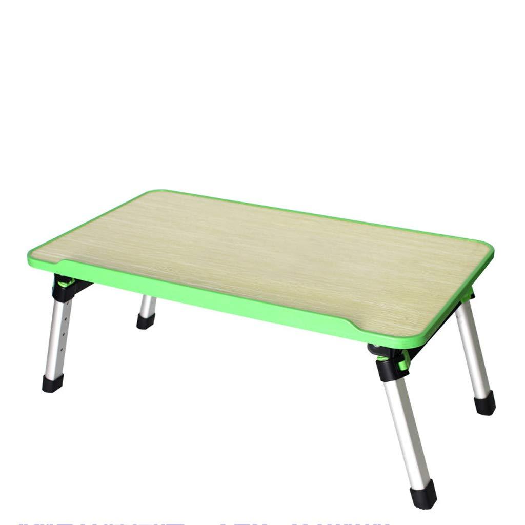 JIANPING Scrittoio da scrivania per Laptop, scrittoio da scrivania, tavolino da Salotto, Lazy Small 52x30x24cm Tavolo (colore   verde)