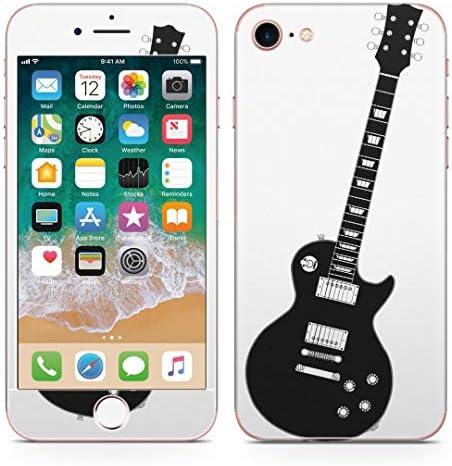 igsticker iPhone SE 2020 iPhone8 iPhone7 専用 スキンシール 全面スキンシール フル 背面 側面 正面 液晶 ステッカー 保護シール 010278 ギター 音楽 黒